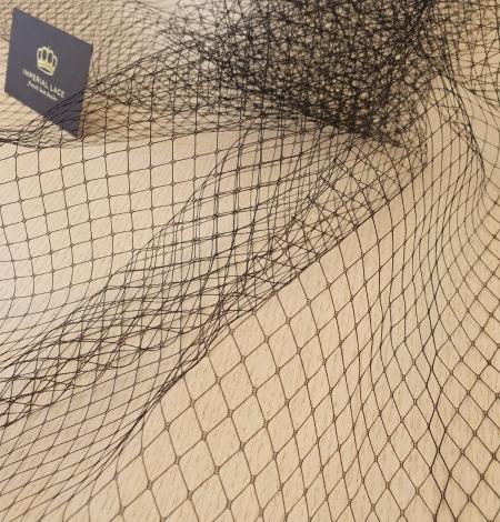 Black hat net tulle fabric. Photo 6