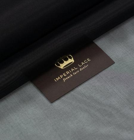 Black silk organza fabric . Photo 1