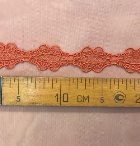 Orange macrame lace trim. Photo 5