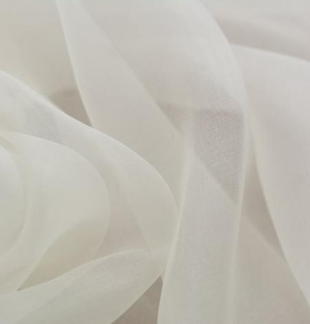 Ivory silk organza fabric . Photo 3