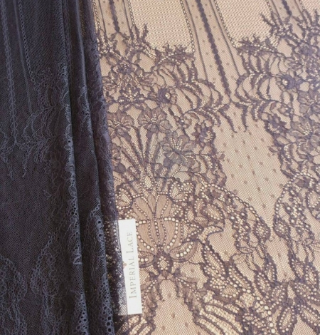 Navy blue lace fabric, French lace fabric. Photo 9