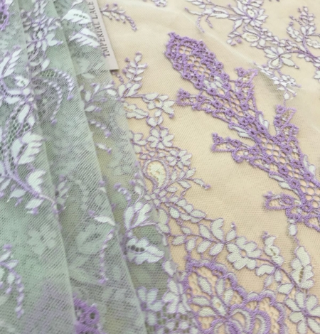 Multicolored lace fabric. Photo 4