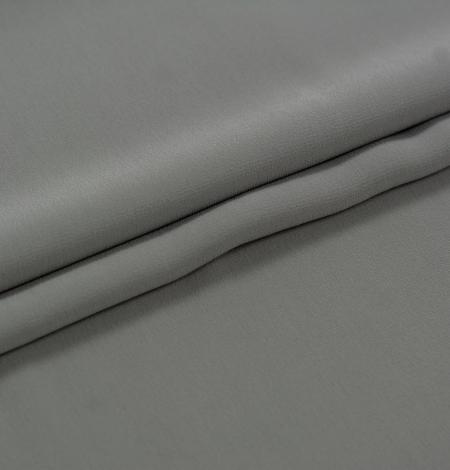 Dark gray silk crepe fabric. Photo 3