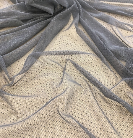 Grey tulle fabric. Photo 4