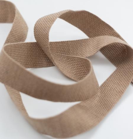 Brown lana wool ribbon . Photo 3