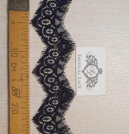 Dark bluish grey guipure lace trimming. Photo 6