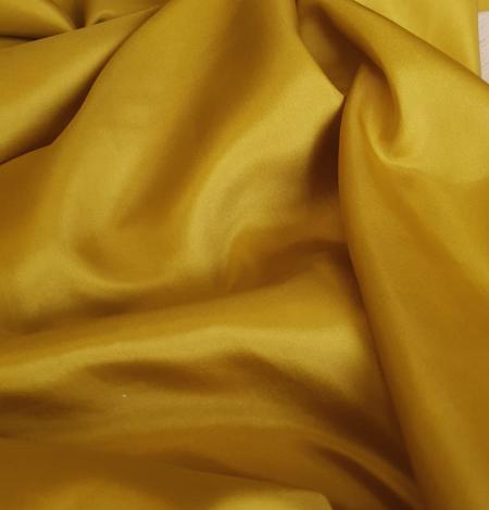 Mustard green silk lining fabric. Photo 6