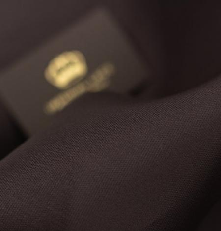 Brown gazar fabric . Photo 7