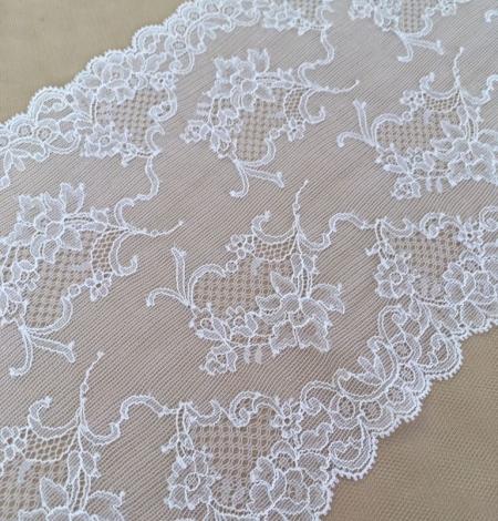 White elastic lingerie lace trim. Photo 1