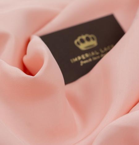 Peach color thick silk fabric. Photo 5