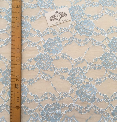 Blue Lace Fabric. Photo 3