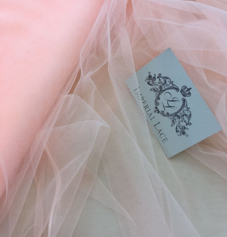 Orange tulle fabric. Photo 4