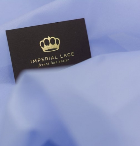 Blue with grey shade silk organza fabric . Photo 6