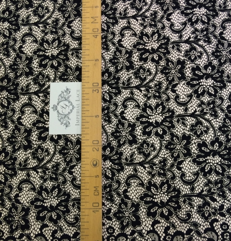 Black lace fabric . Photo 3