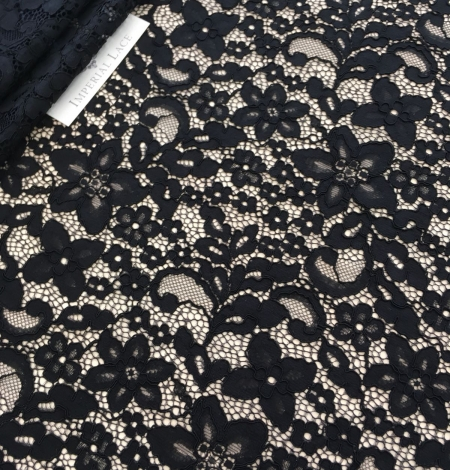 Black lace fabric. Photo 5