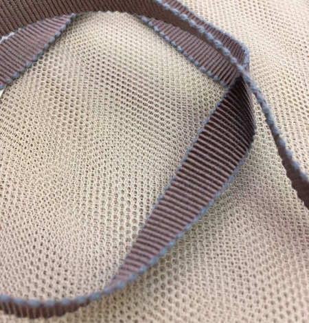 Chocolate brown grosgrain with grey ribbon. Photo 3