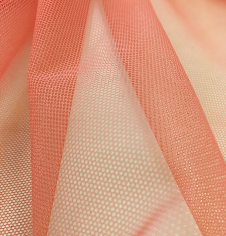 Orange tulle fabric. Photo 7