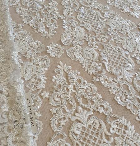 Luxury bridal beaded lace fabric. Photo 11