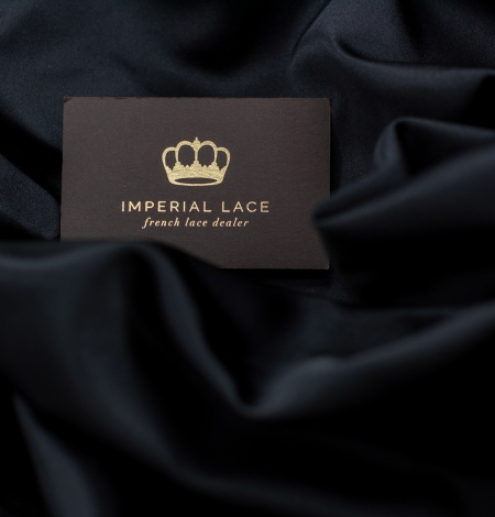 Black silk duchess fabric. Photo 3
