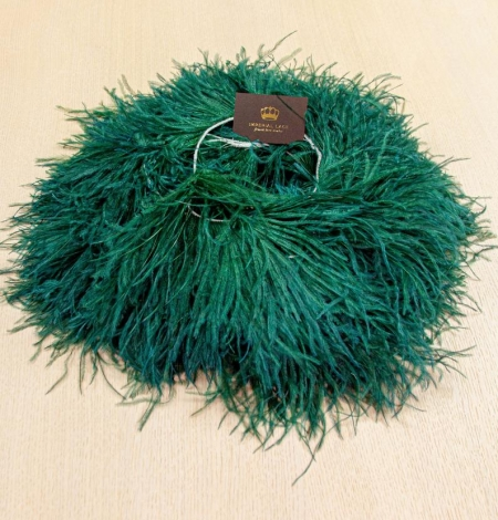 Dark green ostrich feather. Photo 9