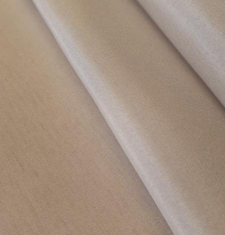 Greyish beige 100% silk lining fabric . Photo 4