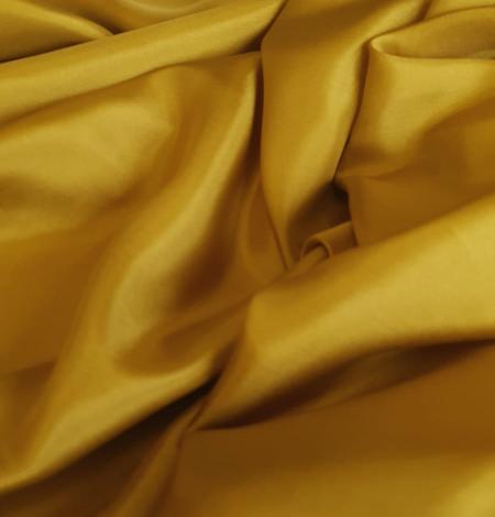 Mustard green silk lining fabric. Photo 3
