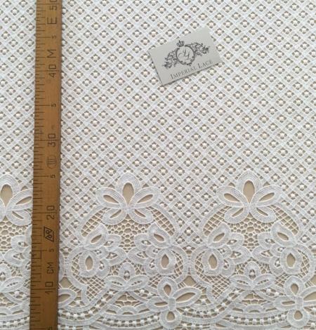 Ivory guipure lace fabric. Photo 4