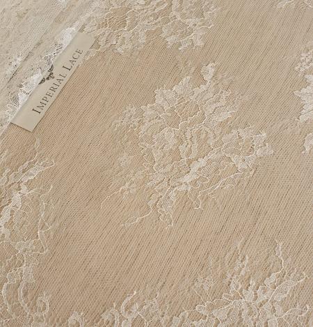 Ecru lace fabric. Photo 1