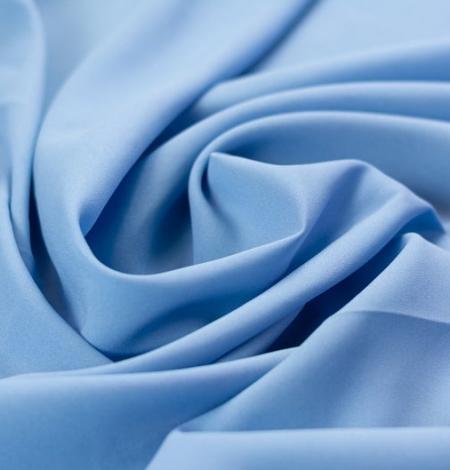 Blue silk with elastane crepe fabric. Photo 1