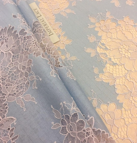 Blue Lace Fabric. Photo 5