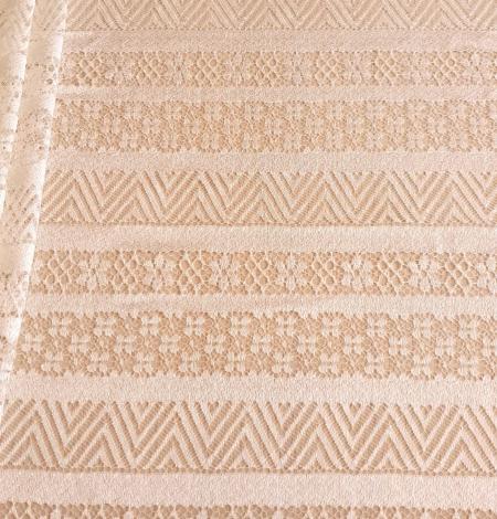 Ivory viscose chantilly lace fabric. Photo 2
