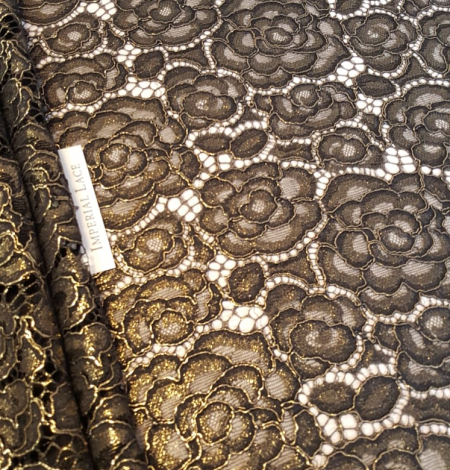 Black with gold lace fabric. Photo 5