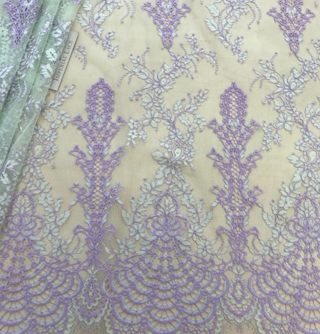 Multicolored lace fabric. Photo 1