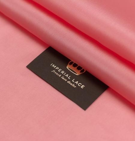 Pink salmon silk lining fabric. Photo 5