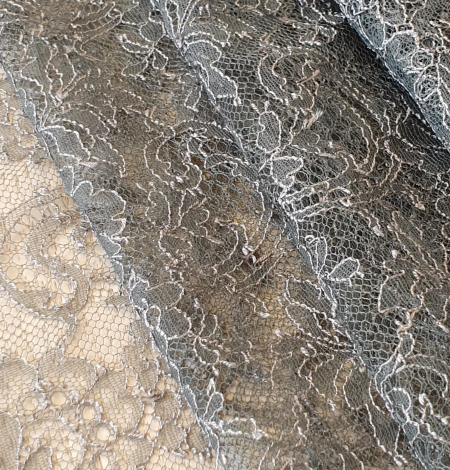 Anthracite lace fabric. Photo 3