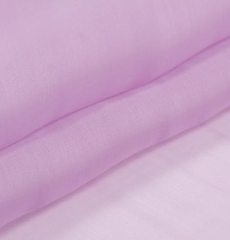 Light lavander lilac silk organza fabric. Photo 7