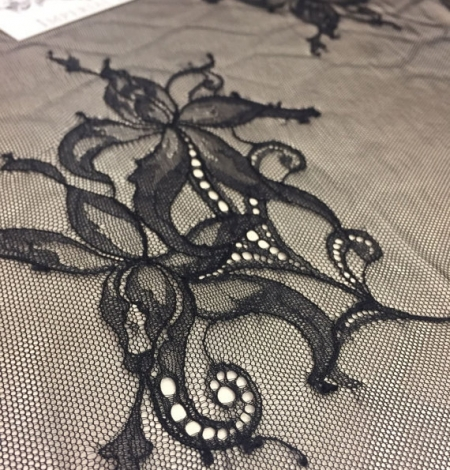 Black lace fabric by the yard. Photo 1