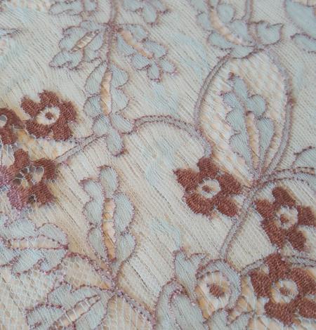 Blue lace fabric. Photo 8