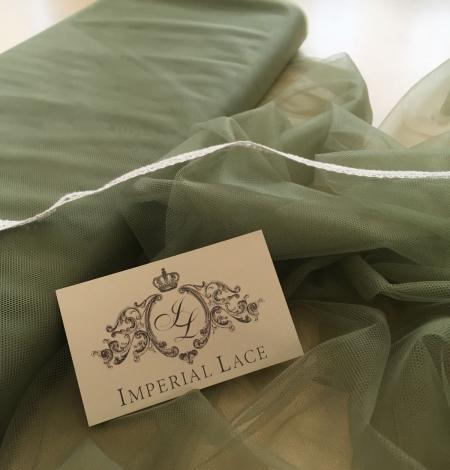 Soft khaki tulle fabric. Photo 5