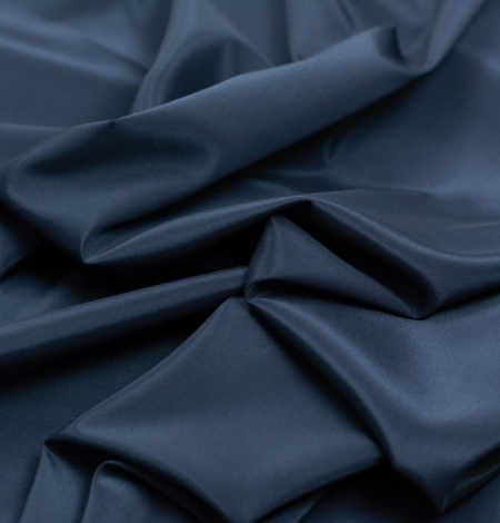 Navy blue viscose with elastane lining fabric. Photo 2