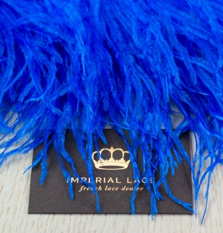 Royal blue natural ostrich feather. Photo 7