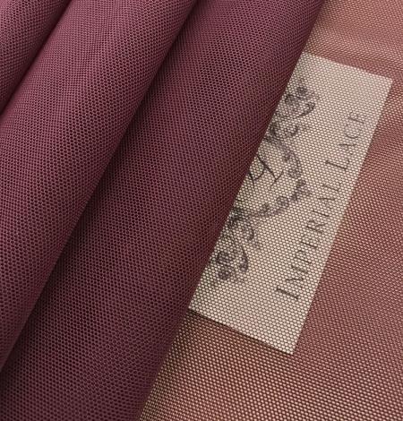 Bordo red tulle fabric. Photo 5
