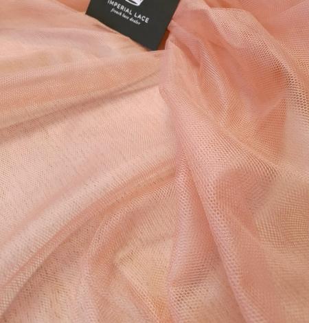 Darkish peachy pink silk tulle fabric. Photo 6