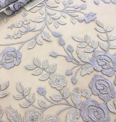 Multicolored 3D lace fabric . Photo 5