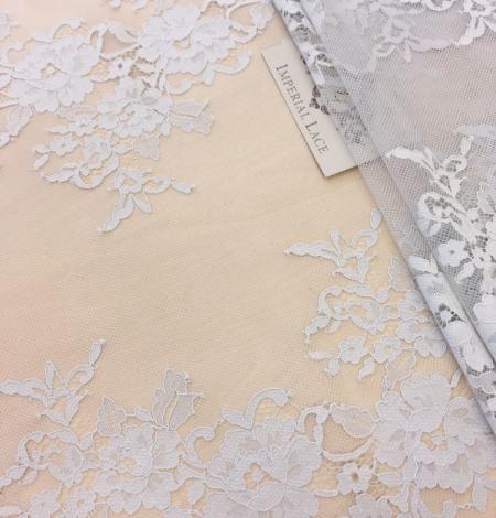 Gray lace fabric. Photo 3