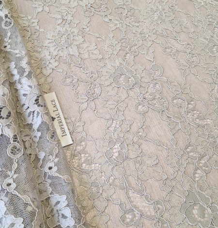 Beige lace fabric. Photo 8