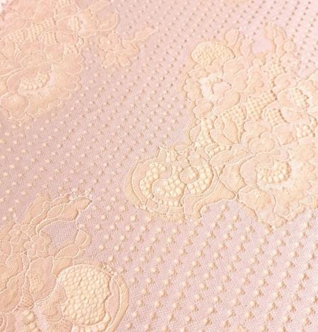 Powder color lace fabric . Photo 4