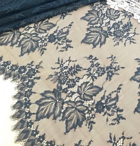 Dark green lace fabric. Photo 3