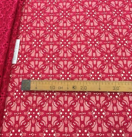 Pink lace fabric. Photo 8
