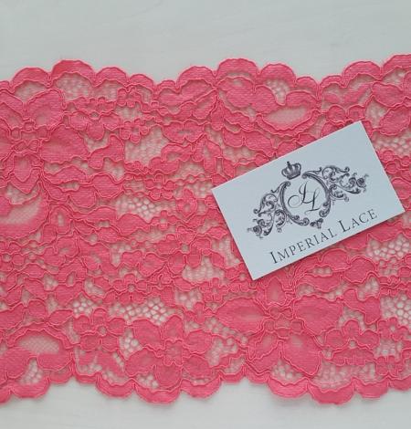 Raspberry alencon Lace Trim. Photo 3